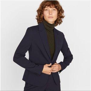 Jigsaw Women's Paris One Button Navy Lined Jacket